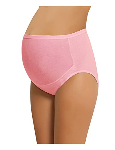 Pink Panty Brief - NBB Women's Adjustable Maternity Panties High Cut Cotton Over Bump Underwear Brief (XXX-Large - Pink)