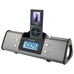 NEW Alarm Clock Spkr Sys Gun Metal (Digital Media Players)