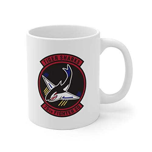 75th Fighter Squadron Flying Tigers White Ceramic Mug, Coffee Mug Gift, 11oz, 15oz, mugs, funny mug, coffer mug