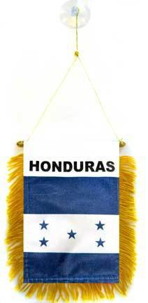 AZ FLAG BANDERIN de Honduras 15x10cm con Ventosa - BANDERINA HONDUREÑA 10 x 15 cm para Coche: Amazon.es: Jardín