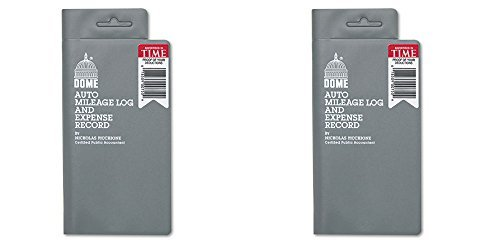 Dome 750 Mileage Log/Expense Record, 3.5 x 6.5 Inches, Logs 324 Trips (DOM750), 2 Packs