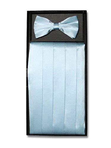 SILK Cumberbund & BowTie BABY BLUE Men's Cummerbund & Bow Tie Set