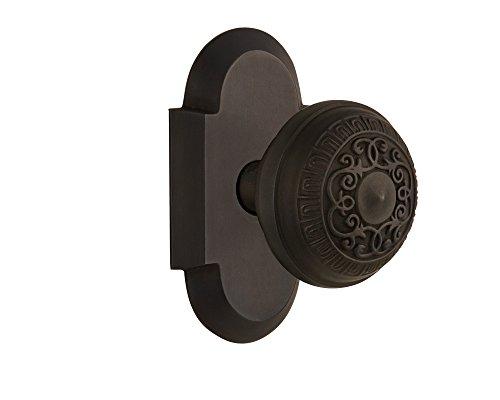 (Nostalgic Warehouse Cottage Plate with Egg & Dart Door Knob, Single Dummy, Oil-Rubbed Bronze)
