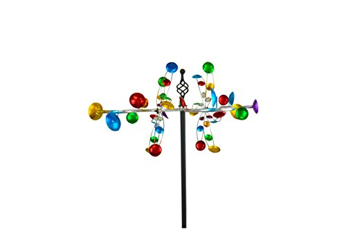 Zig Zag Studio (Red Carpet Studios 34415 Metal Outdoor Decor Wind Spinner Garden Stake, Zig Zag)