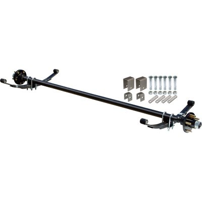 2000 Lb Axles - Ultra-Tow 2000-Lb. Capacity Complete Axle Kit - 67in. Hubface, 55in. Spring Center, 5-Stud Pattern, 4.5in. Hubs
