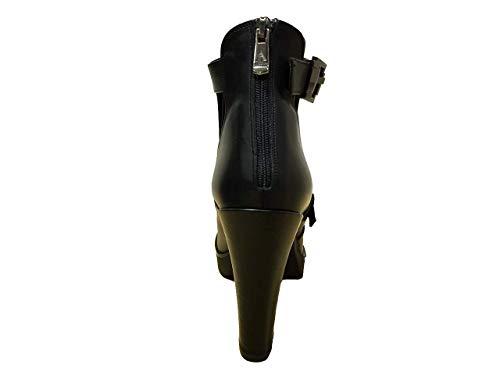 Donna Cm 11 Largo Scarpe Alto Cinturino E Con Tacco Tronchetti Albano fwS7q65F