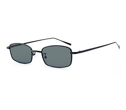 sol Hippie Gris marco de Vintage para Classic de gafas Style no polarizadas metal Square mujeres Negro YHW5fq