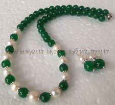 Cultured Pearl Jade Necklace - 6