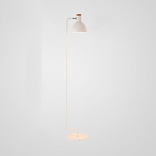 WAN SAN QIAN- Nordic Simple Creative Adjustable Floor Lamp E27 Iron Lamp Head Can Rotate Study Floor Lamp 157x29cm Floor Lamp (Color : White) - Adjustable Shaded Floor Lamp