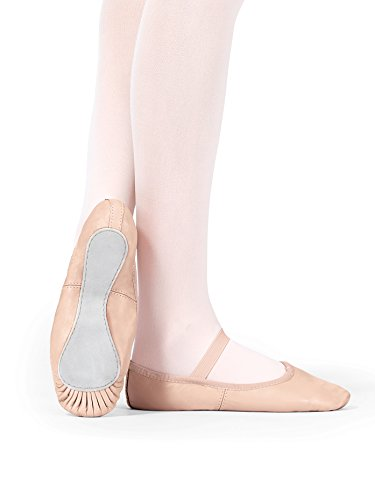Child Premium Leather Full Sole Ballet Shoes,T2000CPNK13.0M,Pink,13.0M
