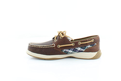 Sperry Top-sider Womens Uforferdet Rutete Mørk Brunfarge ...