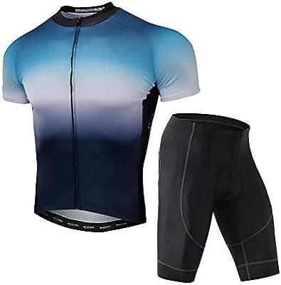 Jersey Manga Corta Traje Camisa De Manga Corta Pantalones Cortos De Silicona | Carretera Bicicleta De Montaña Bicicleta,XXXL: Amazon.es: Deportes y aire libre