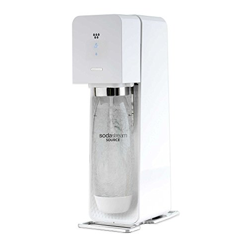Sodastream Source Sparkling Water Maker Starter Kit with 60 Liter CO2 and 1Liter Bottle, White