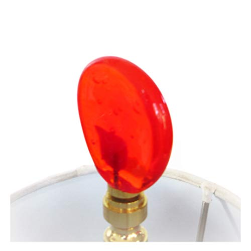Finials - Handmade Venetian Glass Lamp Finials -Ruby Red Venetian Glass, Brass, Nickel or Antique Bronze Hardware, Lampwork Glass