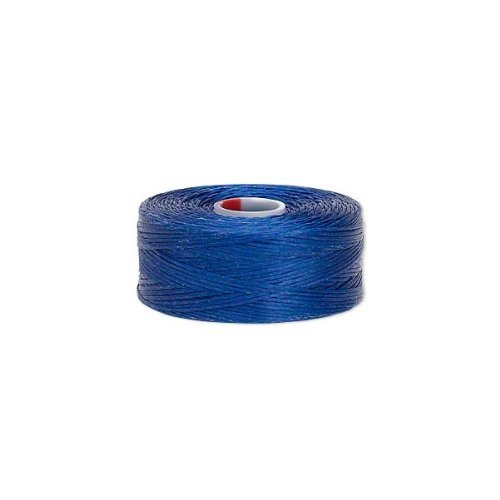 C-Lon Nylon Monocord Thread. Royal Blue Size D. Bobbin of 78 yards (234 feet)