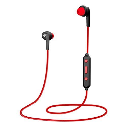 CLEF N100BT in Ear Wireless Earphones with MIC – RED
