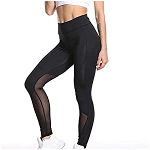 Rwwdah_Pantaloni Leggings per Allenamento Moda da Donna griglia Fitness Sports Gym Running Yoga Athletic Pants Push Up Fitness Leggings Ragazza Fitness Sportivi Workout Ghette 9 spesavip