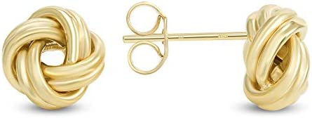 Jewelry by Debbie 14k Yellow Gold Love Knot Stud Earrings Made in Italy