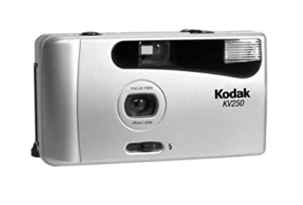 Kodak KV-250 COMPACT 35MM FOCUS FREE CAMERA KIT with Film and Battery