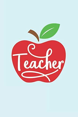 - Teacher: Heart Shaped Apple, Small Teacher Appreciation Notebook