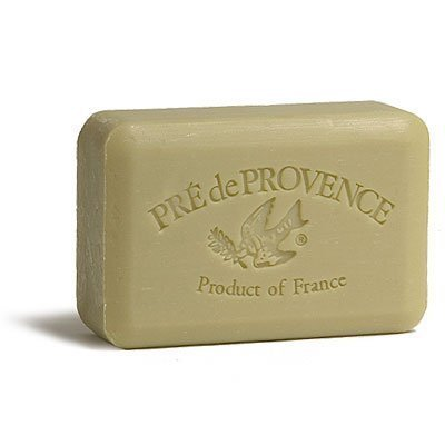 Provence Green Milled Soap - Pre de Provence 250g Shea Butter Enriched Triple Milled Bath Soap - Green Tea