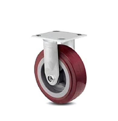 "Colson Rigid Plate Caster with Non-Marking Floor Safe Polyurethane 6"" x 2"" Wheel"