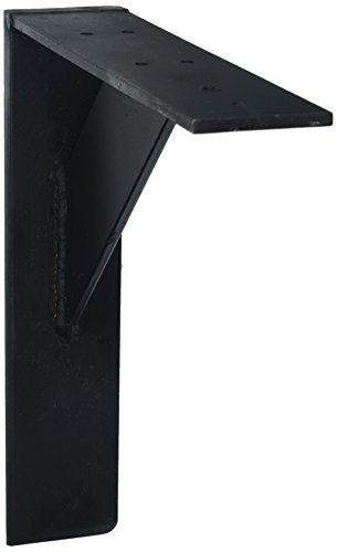 Large Bracket - Shelf Bracket Steel Heavy Duty (12x10, Black)