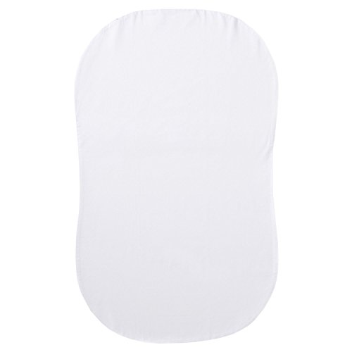 Halo Bassinest Swivel Sleeper Fitted Sheet 100% Organic Cotton, White (2 Pack)