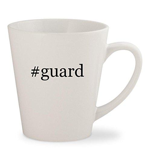 #guard - White Hashtag 12oz Ceramic Latte Mug Cup