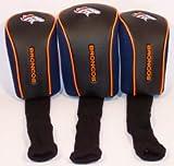 NFL Denver Broncos 3 Pack Mesh Longneck Headcover Set, Outdoor Stuffs