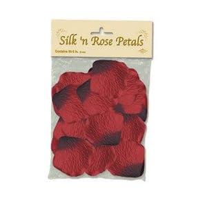 Beistle 50415-R 60-Pack Silk 'N Rose Petals, 2-Inch 77