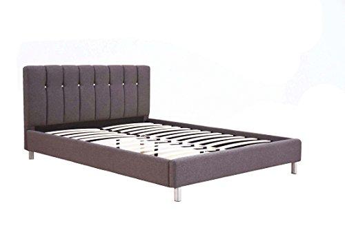 ACME Mert Gray Linen Queen Bed