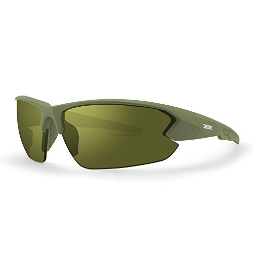 Epoch 4 Army Green Polycarbonate Frame with High Clarity Green Lenses (M-frame Von Oakley)