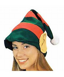 [Jacobson Hat Company Adult Elf Hat with Ears] (Elf Ears Halloween)