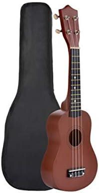 ウクレレ、ウクレレ、21インチハワイウクレレ、小さなギター、初心者、初心者ウクレレ、M04 (Color : Brown-21 inches)