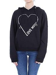 Love Moschino Women S W633603e2004c74 Black Cotton Sweatshirt