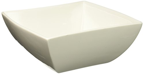 Maxwell and Williams Basics East Meets West Square Bowl, 9.5-Inch, White