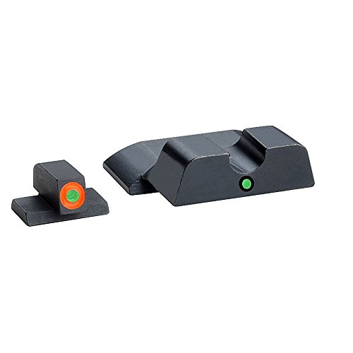 AmeriGlo Tritium I-Dot Green with Orange Outline Sight Set, Smith and Wesson, M and P Shield by AmeriGlo