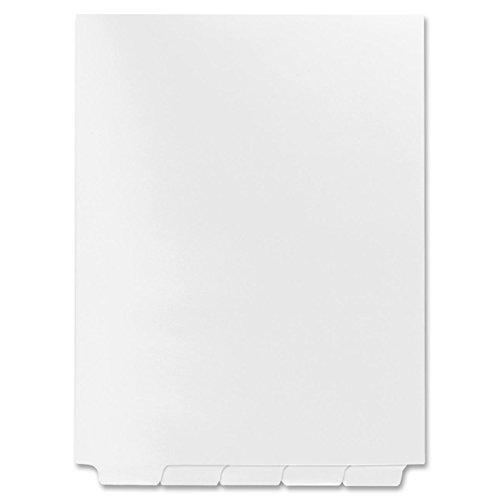 Kleer-Fax 80000 Series Bottom Tab Index Divider - Blank - 8.50 x 11 - 25 / Set - White Divider
