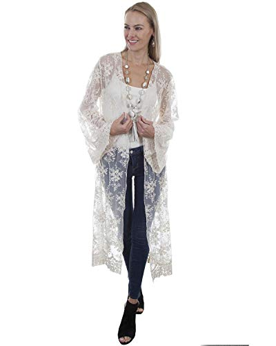 Scully Women's Honey Creek by Ivory Lace Long Sleeve Duster Ivory Medium