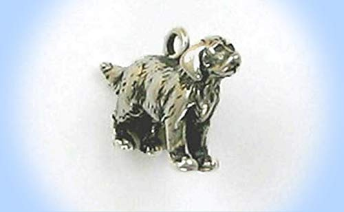 Sterling Silver 3-D Golden Retriever Charm Vintage Crafting Pendant Jewelry Making Supplies - DIY for Necklace Bracelet Accessories by CharmingSS