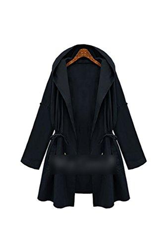 Tenue Extrieur XXL Oversize La Brise Darkblue avec Longue Outcoat De Les Veste Cordon Manche Occasionnels Vent pz66Xq7