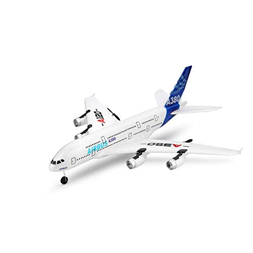 SSBH A120-Airbus A380 2.4G EPP Glider Airplanes Built-in 6-axis Gyroscope 3 Channel Remote Control Helicopter with USB Charger for Children's Christmas Birthday Present, 510mm480mm