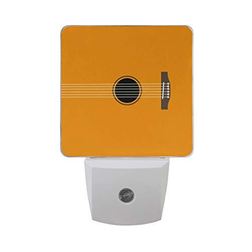Night Light Guitar Led Light Lamp for Hallway, Kitchen, Bathroom, Bedroom, Stairs, DaylightWhite, Bedroom, Compact