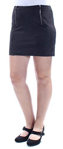 kensie Faux Suede Mini Skirt Medium ()