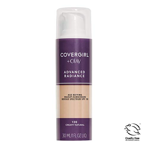 - COVERGIRL Advanced Radiance Age Defying Foundation Makeup, Creamy Natural 120, 1 Ounce (Packaging May Vary) Liquid Foundation Base