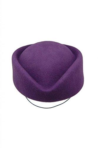 HATsanity Women's Vendimia Textura de lana Sombrerería Pillbox Púrpura