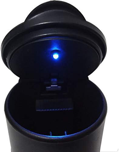 EUEMCH LEDの携帯用車の灰皿の黒い車の自動Lightwithライト