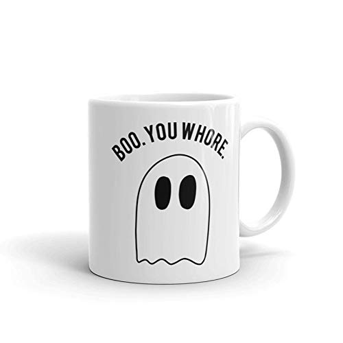 Mean Girls Quote Halloween (Boo, You Whore Coffee Mug Mean Girls Mean Girls Mug Halloween Mug Seasonal Minimalist Funny Quote Mugs Funny Mug Gift Idea)