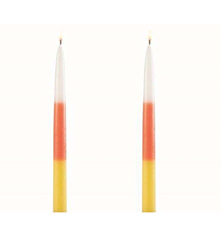 Mud Pie Holiday Collection Candy Corn Tapers